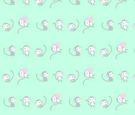 Grey monkeys fabric by lilmoontreasures on Spoonflower - custom fabric