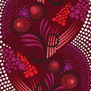 Red African Hero Pattern