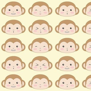 Brown monkey faces