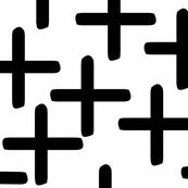 modern X in black