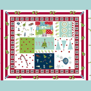 Christmas Quilt 5436 wholecloth - holly Christmas tree border