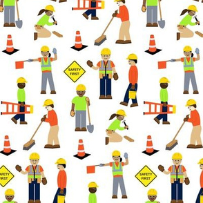 Construction Workers White