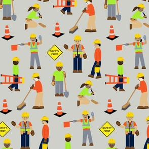 Construction Workers Gray