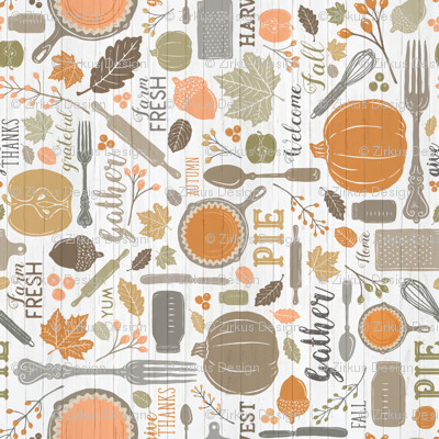 Sing for Your Supper THANKSGIVING // Gather Round & Give Thanks - A Fall Festival of Food, Fun, Family, Friends, and PIE! (RR for Fat Quarter Tea Towels)