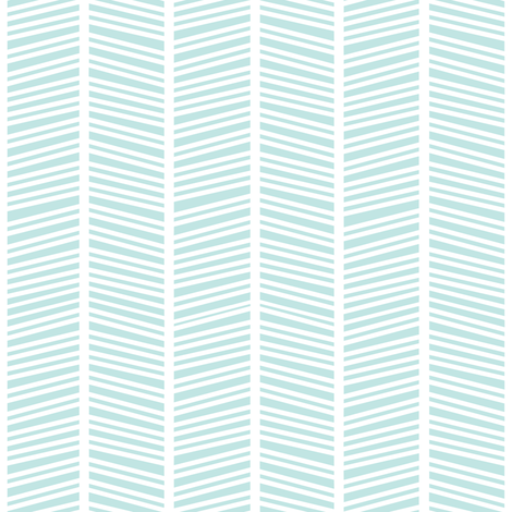 Herringbone Ice Blue fabric by jannasalak on Spoonflower - custom fabric