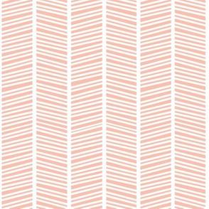 Herringbone Apricot Pink