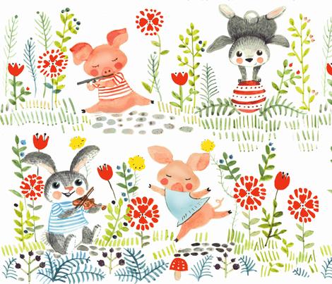 animal perfomance fabric by potyautas on Spoonflower - custom fabric