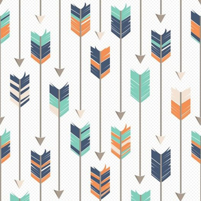 Tribal Arrows Pattern Orange Green Blue