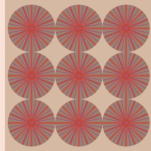 pink natural circles multicolor