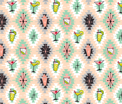 Cocktail kilim fabric by tuppencehapenny on Spoonflower - custom fabric