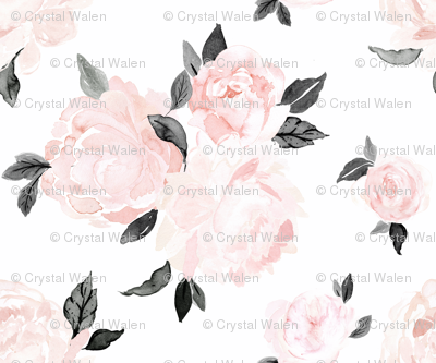 vintage blush floral-bw