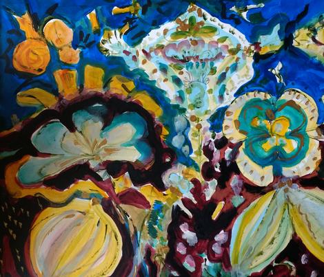 Royal Blue fabric by joyce_lieberman on Spoonflower - custom fabric