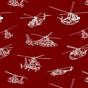 Choppers on Burgundy // Small