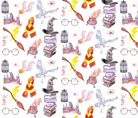 Wizard Symbols // Medium Scale fabric by hipkiddesigns on Spoonflower - custom fabric