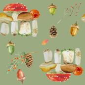 mushroom toss -sage