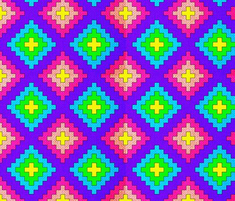 Rainbow Kilim fabric by anneostroff on Spoonflower - custom fabric