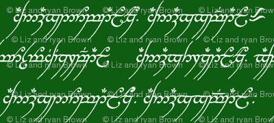 Elvish on Green // Small