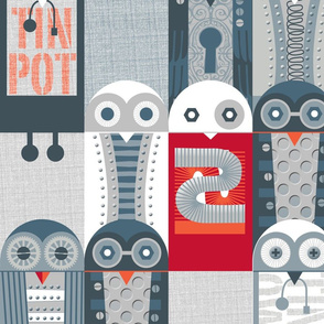 Tin Pot Owl-Bot large scale