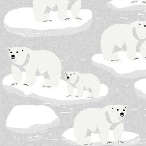 polar bear animal arctic iceberg bears kids fabrics grey