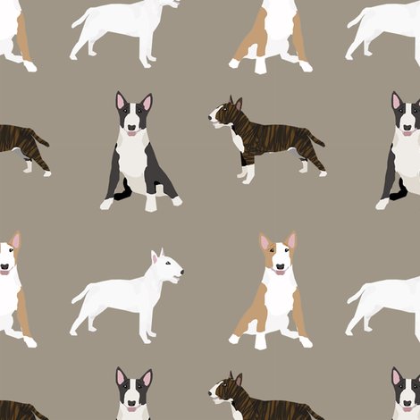 bull terrier mixed coat colors simple terriers dog breed fabric medium  fabric by petfriendly on Spoonflower - custom fabric