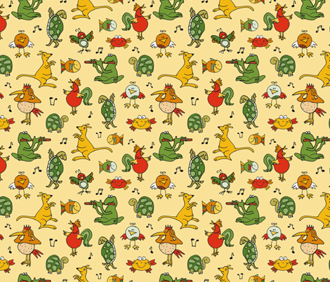 carnival of the animals fabric by colorofmagic on Spoonflower - custom fabric