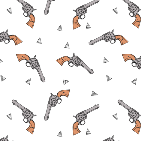 Geometric Pistols // Small fabric by thinlinetextiles on Spoonflower - custom fabric