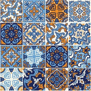 Sea ceramic tilework