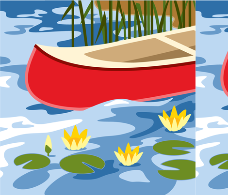 Canoe panel fabric by cindylindgren on Spoonflower - custom fabric