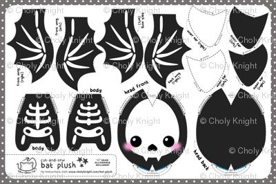 Cut & Sew Bat Plush Skeleton