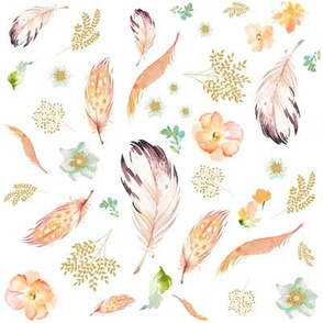 "8"" GOLD PEACH MINT MIX AND MATCH PRINT"