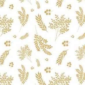 "4"" Gold Falling Florals"