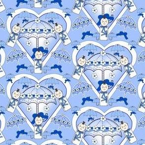 Baby Hearts Bunting Boys Fabric 4