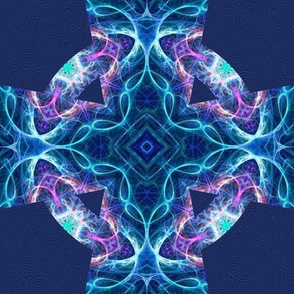 fractal blue marble celtic cross E