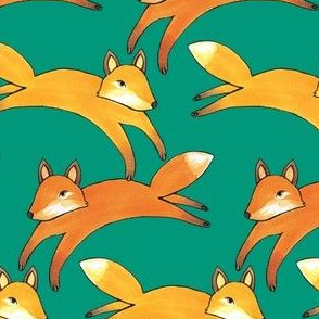 Leaping Foxes