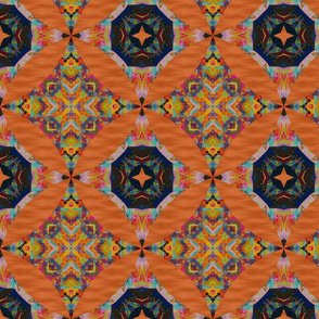 Orange Fiesta Star Tile