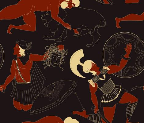 Demigods ancient Greeks fabric by edrouga on Spoonflower - custom fabric