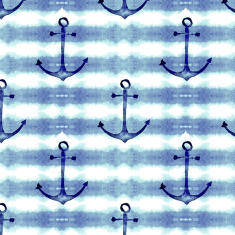 Anchors Tie Dye fabric by hipkiddesigns on Spoonflower - custom fabric