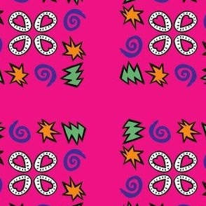 primary attention (pink)