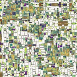 sage and purple modern pixels