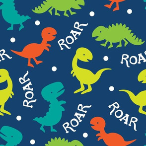Silhouette Dinosaur Pattern