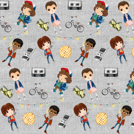 Stranger Friends fabric by kindermama on Spoonflower - custom fabric