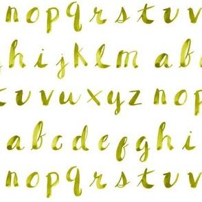 Painted Alphabet // Yellow