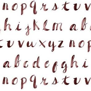 Painted Alphabet // Dark Red
