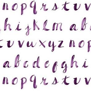 Painted Alphabet // Purple
