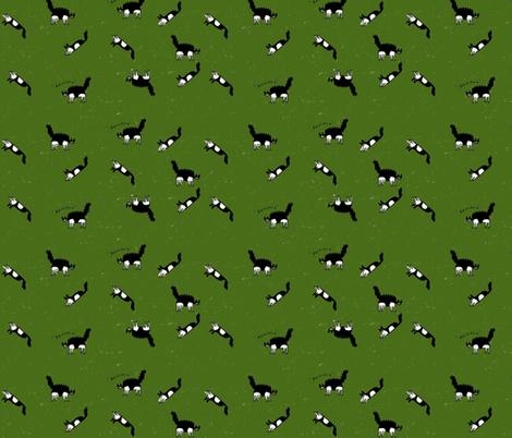 kitten green fabric by kimmurton on Spoonflower - custom fabric
