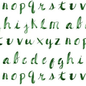 Painted Alphabet // Green