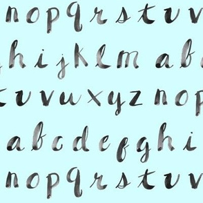 Painted Alphabet // Light Blue