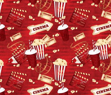 Movie Night fabric by lovelindsaydesigns on Spoonflower - custom fabric