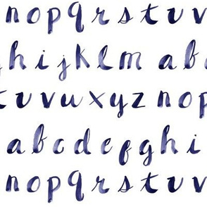 Painted Alphabet // Blue