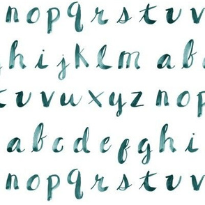Painted Alphabet // Aqua
